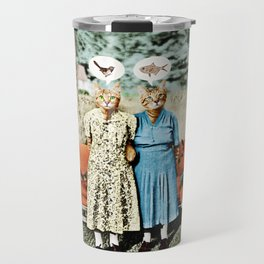 Two Cool Kitties: What's for Lunch? Travel Mug
