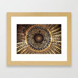 aya sophia ceiling, istanbul, turkey Framed Art Print