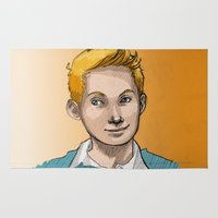 tintin Area & Throw Rugs featuring Tintin by Zalazny