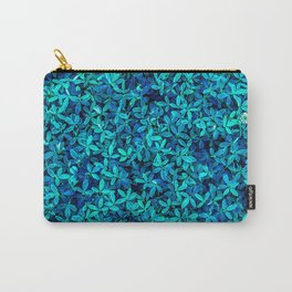 Teal leafs Carry-All Pouch