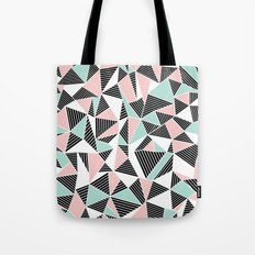 AbLines with Blush Mint Blocks Tote Bag