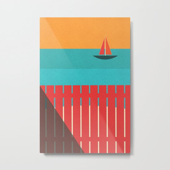 Summer Heat Metal Print