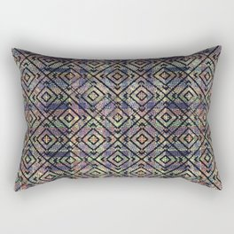 Multicolored Ethnic Check Seamless Pattern Rectangular Pillow