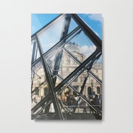 Louvre Pyramid Close-Up Metal Print