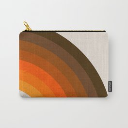 Retro Golden Rainbow - Right Side Carry-All Pouch