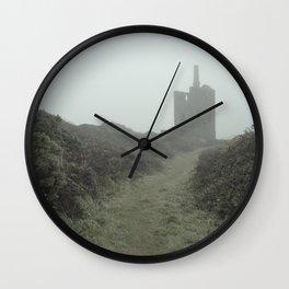 Higher Ball mine in the mist Wall Clock