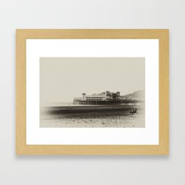 Weston-Super-Mare Beach Framed Art Print