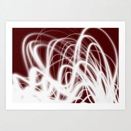 Red Flow2 Art Print