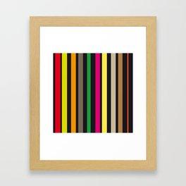 bold stripes and color Framed Art Print
