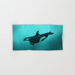 """""""Lost in Paradise"""" by Amber Marine ~ Killer Whale ~ Orca ~ Original Version ~ (Copyright 2015) Hand & Bath Towel"""