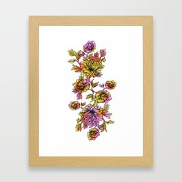 Rainbow Flowers Framed Art Print