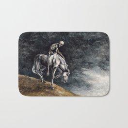 Skeleton Riding a Pale Horse Bath Mat