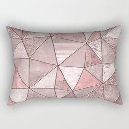 Soft Pink Glamour Gemstone Triangles Rectangular Pillow