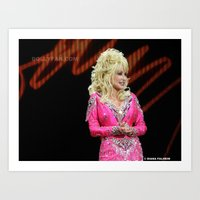 dolly parton Art Prints featuring Dolly Parton in Gothenburg 8/28/11 by Diana Falheim