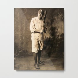 Babe Ruth Baseball Metal Print