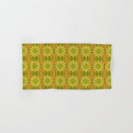 Sun Flower, Sunflower, Bohemian Floral Mandala Pattern Hand & Bath Towel