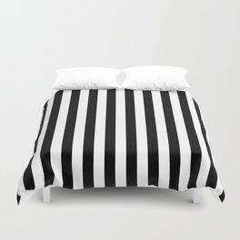Large Black and White Cabana Stripe Duvet Cover