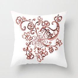 24. Elegant Henna Flower  in Pattern World  Throw Pillow