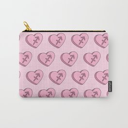 Sagittarius Candy Hearts Carry-All Pouch