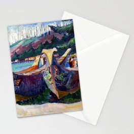 Emily Carr First Nations War Canoes in Alert Bay Stationery Cards