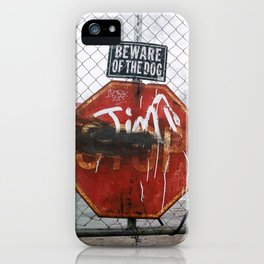 Beware of Dog iPhone Case
