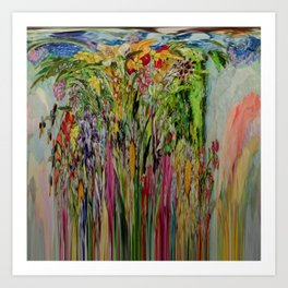 COLORFALL FLOWERFALLS Art Print