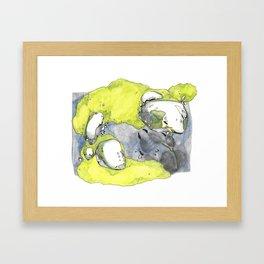 Moss Study with Wolf Print Framed Art Print