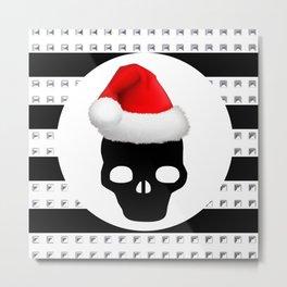 merry christmas santa skull Metal Print