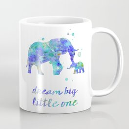 Elephant Dream Big Little One Watercolor Painting Coffee Mug