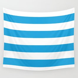 Oktoberfest Bavarian Blue and White Large Cabana Stripes Wall Tapestry