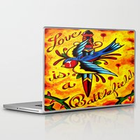 battlefield Laptop & iPad Skins featuring Love Is A Battlefield by ARMADA Industries