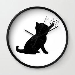 Poetic cat Wall Clock