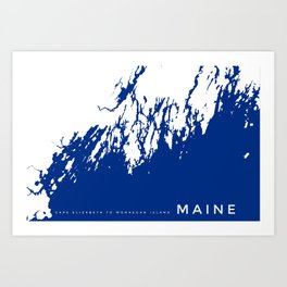 Coast of Maine Fine Art Print  Art Print