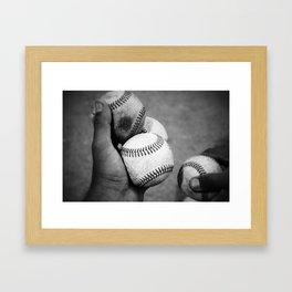 Batting Practice Framed Art Print