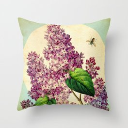 May Lilacs Throw Pillow
