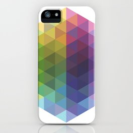 Fig. 016 Geometric Shape Triangles iPhone Case