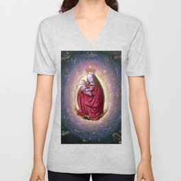 Geertgen tot Sint Jans The Glorification of the Virgin Unisex V-Neck