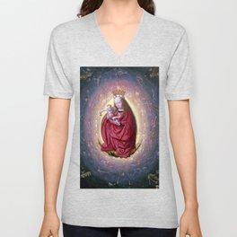 Geertgen tot Sint Jans The Glorification of the Virgin Unisex V-Neck