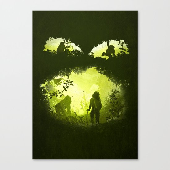 In the Heart of the Jungle Canvas Print