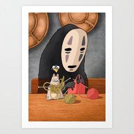 Spirited Away - Boh and No Face Knitting Art Print