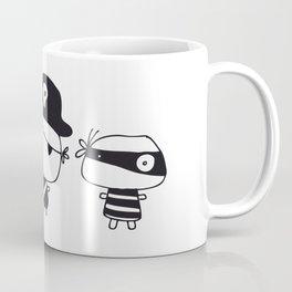 Three Pirates, Black Coffee Mug