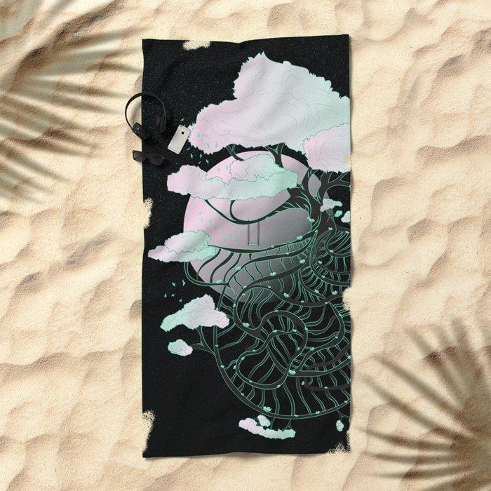 Celestial Tree Beach Towel