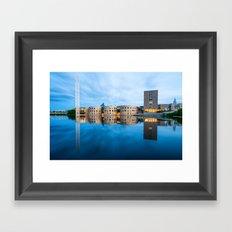 The blue hour in Ottawa Framed Art Print