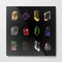 Minerals Metal Print