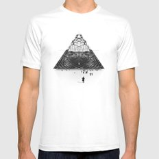 Darkside  White LARGE Mens Fitted Tee