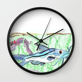 Mexican Blue Catfish Wall Clock