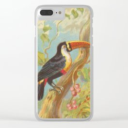 Vintage Illustration of a Toucan (1889) Clear iPhone Case