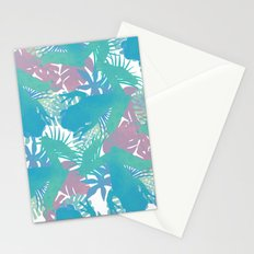 Tropical Blue Frog Pattern Stationery Cards