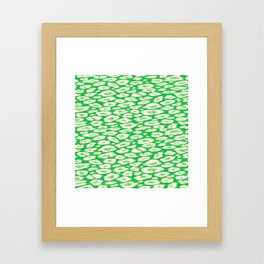 green cheetah animal print Framed Art Print