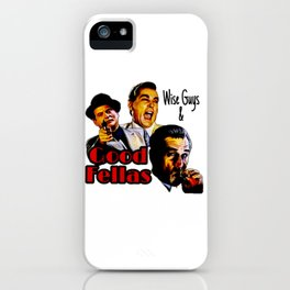 Goodfellas Wiseguys Gangster Mafia Mobster American Movie Painting iPhone Case